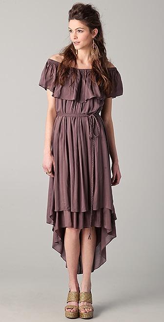 Riller & Fount Sofia Ruffle Midi Dress