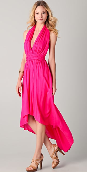 Riller & Fount Mariposa Halter Dress