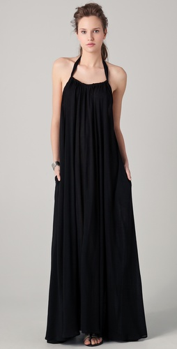 Riller & Fount India Gathered Halter Maxi Dress