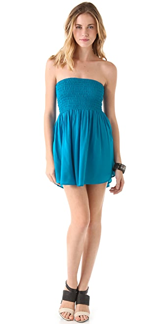 Riller & Fount Trixie Smocked Mini Dress