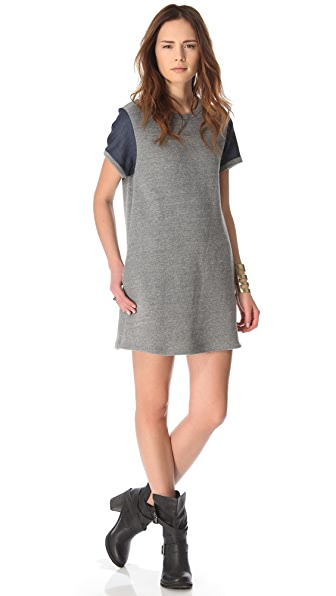 Riller & Fount Dress with Chambray Sleeves