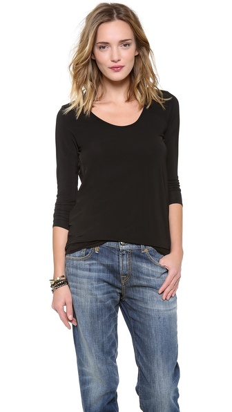 Riller & Fount Matt Long Sleeve Open Back Tunic
