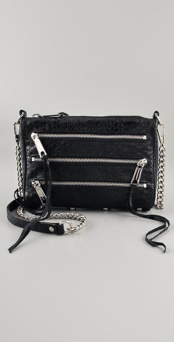 Rebecca Minkoff Mini 5 Zip Snake Clutch