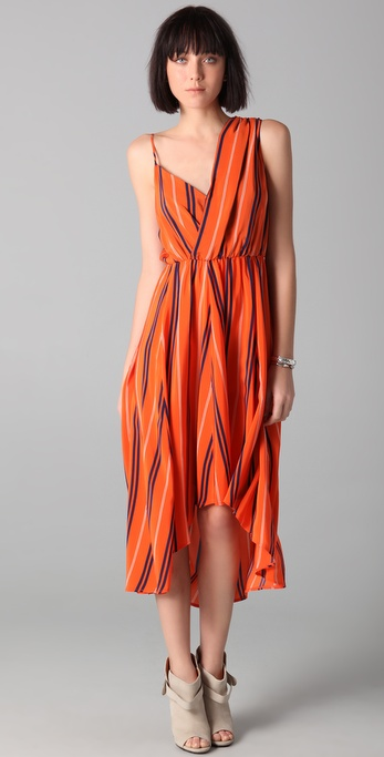 Rebecca Minkoff Long Striped Delhia Dress
