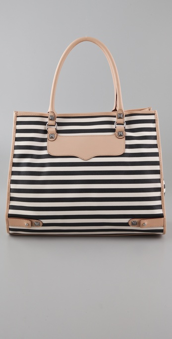 Rebecca Minkoff Striped Diamond Tote