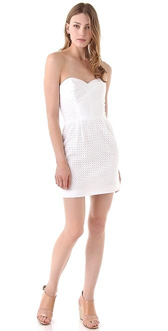 Rebecca Minkoff Eyelet Strapless Bustier Dress