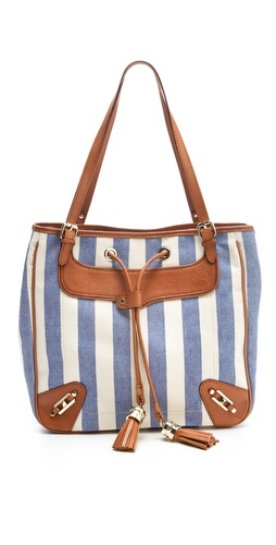 Rebecca Minkoff Canvas Stripe Bucket Bag