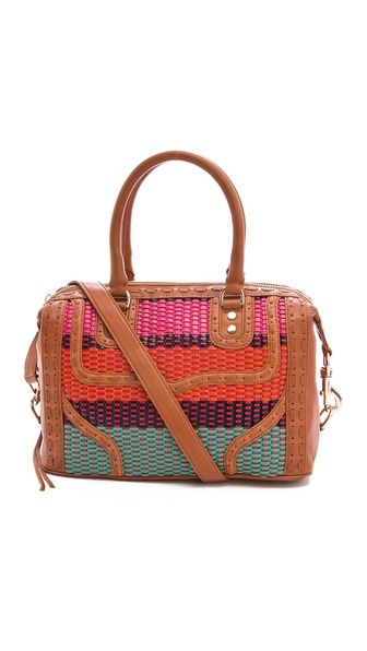 Rebecca Minkoff Colorful Weave MAB Mini Bombe Satchel