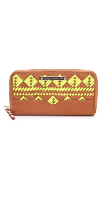 Rebecca Minkoff Woven Large Zip Wallet