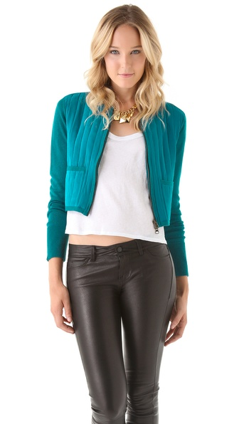 Rebecca Minkoff Quilted Cashmere Devon Jacket