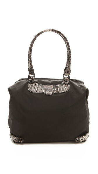 Rebecca Minkoff Travel Tote with Python Trim