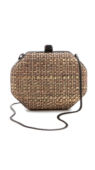 Rebecca Minkoff Woven HEX Minaudiere