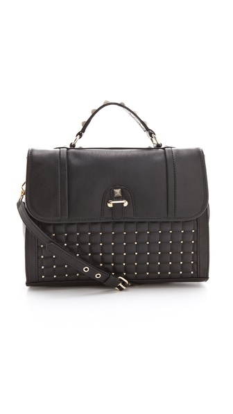 Rebecca Minkoff Pyramid Studded Chance Briefcase