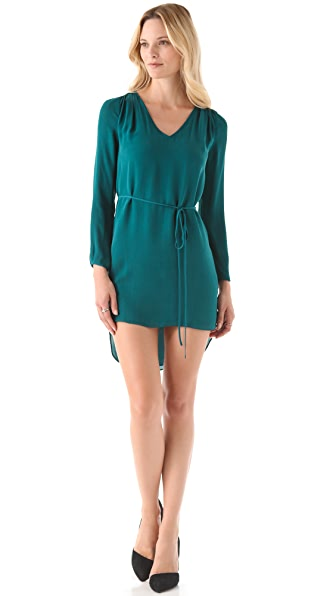 Rebecca Minkoff Deep V Dress with Sash