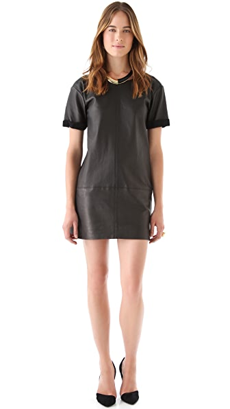 Rebecca Minkoff Leather Shift Dress
