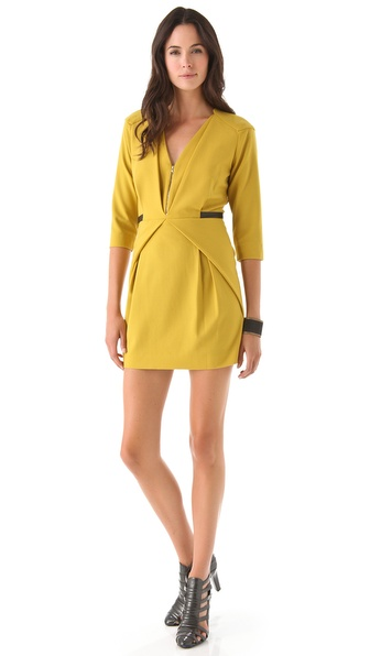 Rebecca Minkoff Arlington V Neck Dress