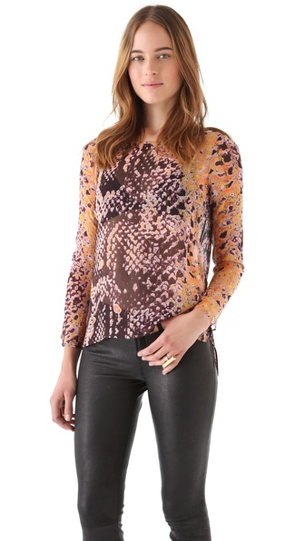 Rebecca Minkoff Leah Python Print Top