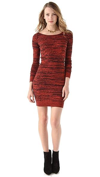 Rebecca Minkoff Essef V Back Cashmere Dress