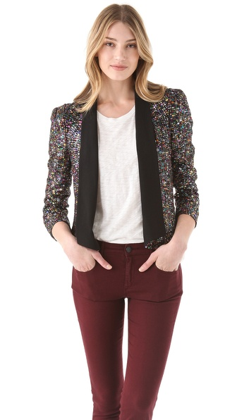 Rebecca Minkoff Becky Sequin Jacket