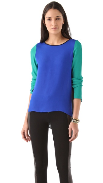Rebecca Minkoff Leah Colorblock Top