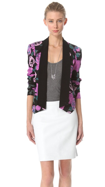 Rebecca Minkoff Rose Print Becky Jacket