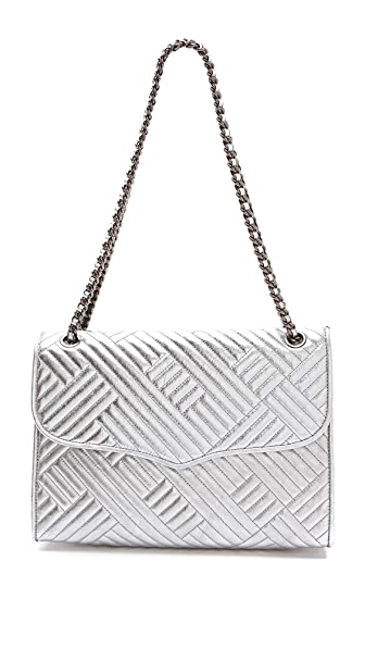 Rebecca Minkoff Metallic Quilted Large Affair Bag