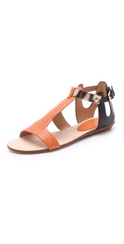 Shop Rebecca Minkoff Bardot Colorblock Sandals - Rebecca Minkoff online - Footwear,Womens,Sandals,Flat_Sandals, at Lilychic Australian Clothes Online Store