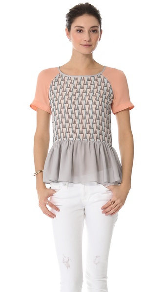 Rebecca Minkoff Corrine Peplum Top