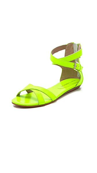 Rebecca Minkoff Bettina Neon Flat Sandals