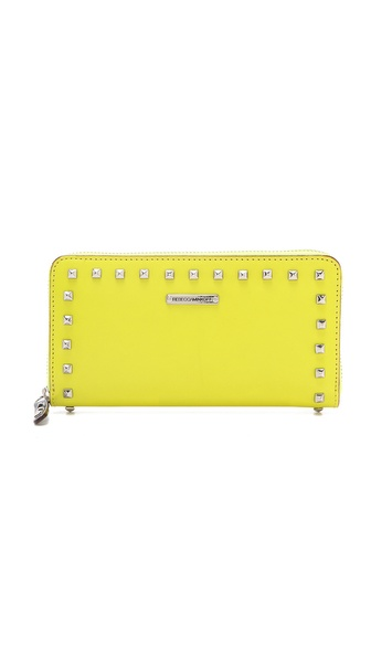 Rebecca Minkoff Studded Zip Wallet