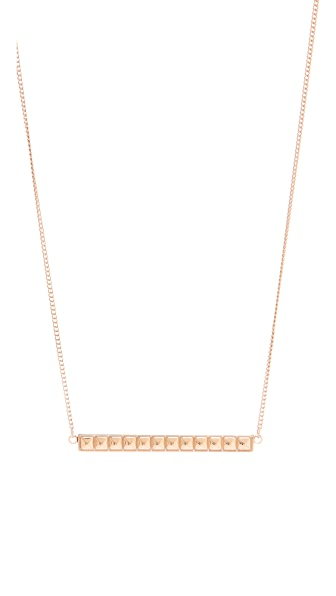 Rebecca Minkoff Studded ID Plate Necklace