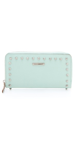 Rebecca Minkoff Luma Large Zip Wallet with Studs at Shopbop.com