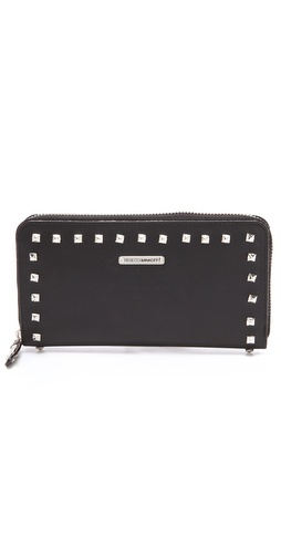 Shop Rebecca Minkoff Luma Large Zip Wallet with Studs and Rebecca Minkoff online - Accessories,Womens,SLGs,Wallets, online Store