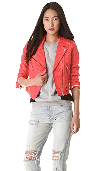Rebecca Minkoff Perforated Wes Leather Moto Jacket
