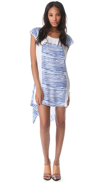 Rebecca Minkoff Brush Stripe Baseball Dress