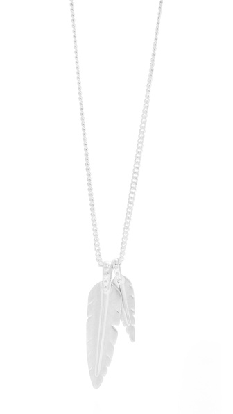 Rebecca Minkoff Long Feather Necklace