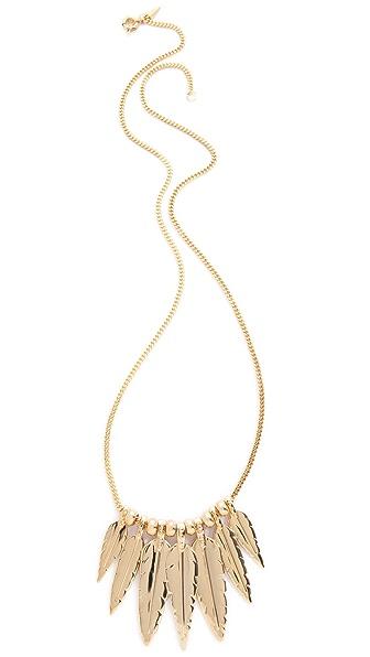 Rebecca Minkoff Multi Feather Necklace