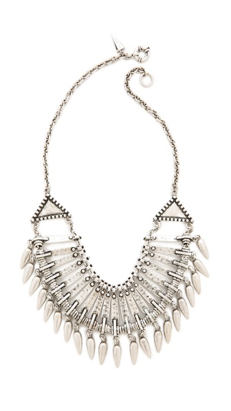 Rebecca Minkoff Tribal Bib Necklace