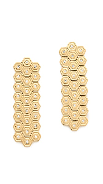 Rebecca Minkoff Hexagon Hanging Earrings