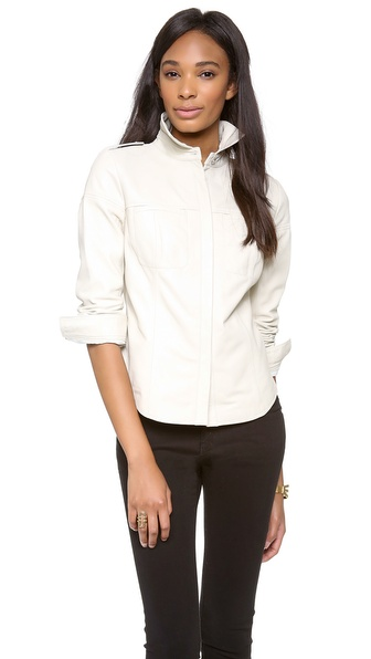 Rebecca Minkoff Ryker Leather Top