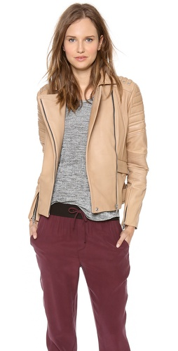 Rebecca Minkoff Saturn Bonded Leather Jacket at Shopbop / East Dane