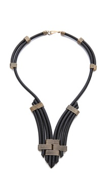 Rebecca Minkoff Leather Cord Necklace