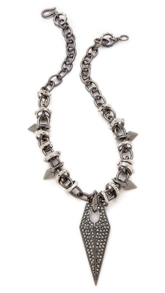 Rebecca Minkoff Blades Statement Pave Necklace