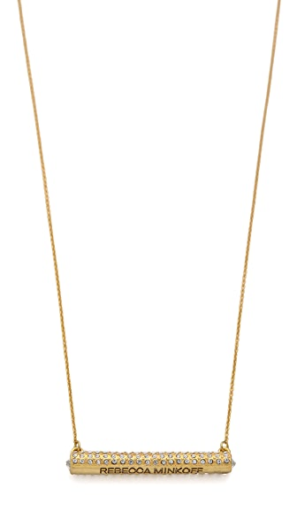 Rebecca Minkoff Crystal Bar Necklace