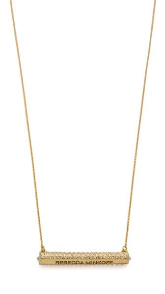 Rebecca Minkoff Crystal Bar Necklace