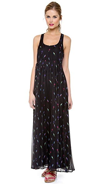 Rebecca Minkoff Sunita Maxi Bird Print Dress