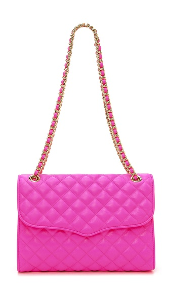 Rebecca Minkoff Neon Quilted Affair Bag