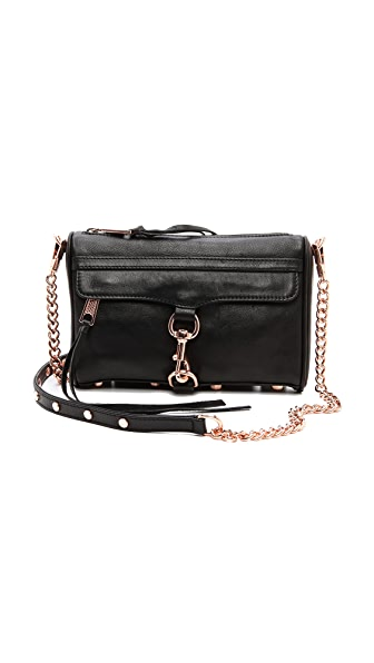Rebecca Minkoff Mini MAC Bag with Rose Gold Hardware