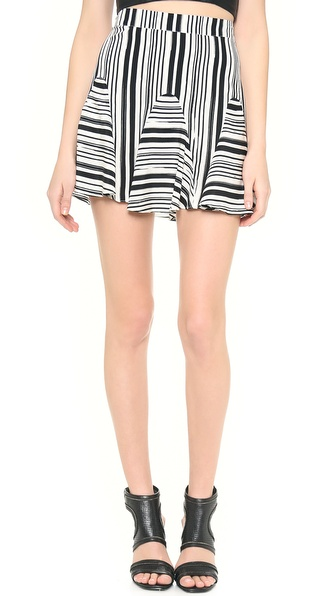 Rebecca Minkoff Tulum Striped Skirt