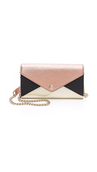 Rebecca Minkoff Colorblock Wallet on Chain